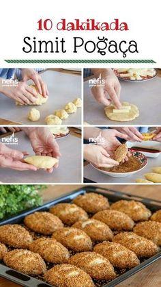 Bagel Donut Recipe in 10 Minutes - Yummy Recipes - Sandwich Recipes Donut Recipes, Pastry Recipes, Sandwich Recipes, Vegan Recipes Easy, Yummy Recipes, Bread Recipes, Wie Macht Man, Turkish Recipes, Beignets