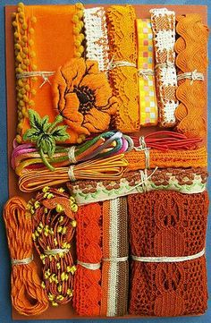 Try Nifty Thrifty Dry Goods on the Etsy site for Crazy Quilt Embellishment Assortment - Orange Fleur Orange, Burnt Orange, Orange Brown, Terracota, Orange You Glad, Color Naranja, Passementerie, Orange Crush, Janome