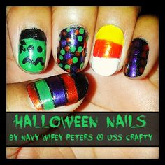 Navy Wifey Peters Aboard the USS Crafty: Halloween Nails
