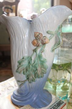 Beautiful Vintage Weller Pottery Vase by Vintalicous on Etsy.  $79.00.  Small crack.