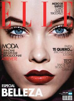 Love this shot of Barbara Palvin for the April 2012 issue of Elle Argentina. Beautiful image of voluminous lashes and a bold lip. Photographed by Jan Welters. Fashion Magazine Cover, Fashion Cover, Magazine Covers, Barbara Palvin, Elle Argentina, Cover Girl Makeup, Healthy Lifestyle Motivation, Face Facial, Spring Makeup