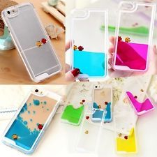 Cool Dynamic Liquid Quicksand Fishes Pattern Clear Case Cover For Apple iPhone