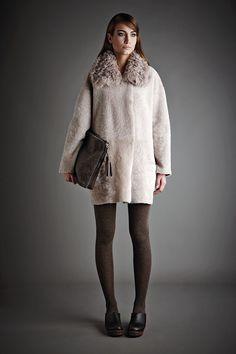 Gushlow And Cole Autumn Winter 14/15 Lookbook Reversible Shearling Merino & Toscana coat