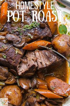 Homestyle pot roast is the ultimate comfort food. Feeds a crowd and is so easy to make. This secret ingredient makes all the difference.