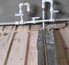 Водяной теплый пол самодельная деревянная система