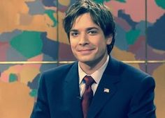 Jimmy Fallon on Weekend Update: SNL. Looking good (: