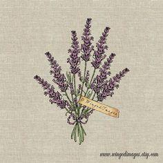 Lavender Bouquet. Instant Download Digital Image No.382