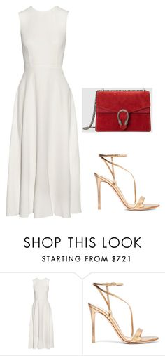 summer time by evelynakaakar on Polyvore featuring The Row, Gianvito Rossi and Gucci