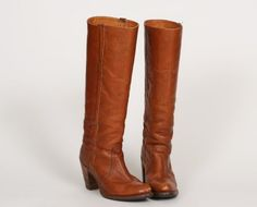Vintage+70s+FRYE+Leather+Tall+Campus+Stacked+Heel+by+ShopExile