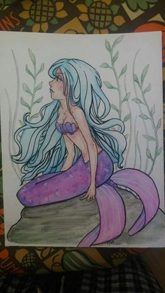 Mermaid watercolor by Bobbie Wavrin
