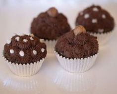 Raw vegan candied Hazelnut cupcakes