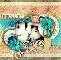 What a gorgeous layout by Irene Tan. #Bobunny, # Prairie Chic, @Irene Tan