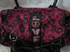 Betsey Johnson Betseyville Pink&Black Bow Satchel . Starting at $5 on Tophatter.com!