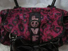 Betsey Johnson Betseyville Pink&Black Bow Satchel . Starting at $5 on Tophatter.com!