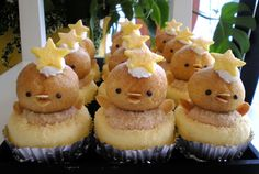Decoration idea- baby chick cheese cake cupcake