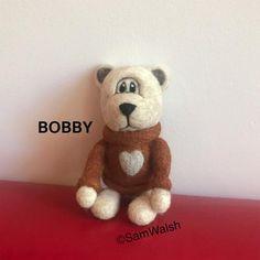 Bobby the needle felted bear. Felted little bear. Cute bear. | Etsy Needle Felted Animals, Felt Animals, Needle Felting, Soft Sculpture, Sculptures, Baby Toothbrush, Bear Felt, Unusual Animals, Fibre Art
