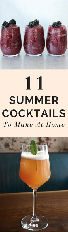 Ah, summer. The weather gets hotter, the days get longer, and life seems a little bit easier. The season's adventures can leave you parched, though, so be sure that you have one of these refreshing cocktails in hand all summer long.