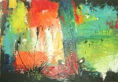 ingemalt (©2012 ingeborgzinn.com) abstraktes Werk, datiert und signiert, Unikat      Acryl auf Leinwand