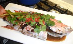 Steamed snapper with black bean & garlic