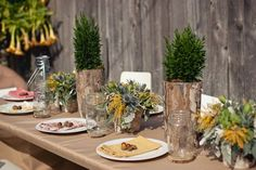 In love with the details of this camping themed baby shower!!!