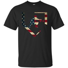 a16c7a90 Awesome baseball catcher gear t shirt american flag baseballin gift -  99promocode