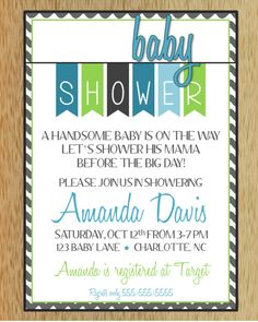 Baby Shower Invitation - 4 options