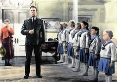 The Sound of Music (1965) - Responding to the Captain's whistle, they line up and stand at attention