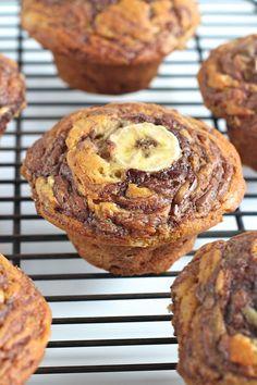 Nutella Swirled Banana Muffins Really nice recipes. Every  Mein Blog: Alles rund um Genuss & Geschmack  Kochen Backen Braten Vorspeisen Mains & Desserts!