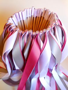 Wedding ribbon wands by BellaBrideCreations on Etsy, $1.00 - would be cute if you have lots of little kids dancing around :)