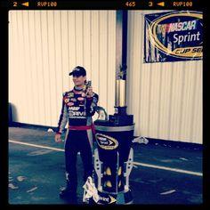"Photo by @Hendrick Motorsports on Instagram: ""@Jeff Gordon poses w/ his trophy after winning today @Pocono Raceway. #NASCAR"""