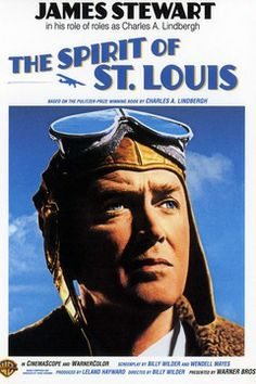 THE SPIRIT OF ST. LOUIS (1957) - James Stewart as 'Charles A. Lindbergh' - Produced by Leland Hayward - Directed by Billy Wilder - Warner Bros. - Magazine ad.