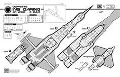 Traveller - INS Daring - Deckplans - Far Future Enterprise