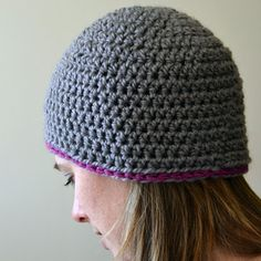 Crochet in Color: Chunky Beanie Pattern also shows the no knot tie off