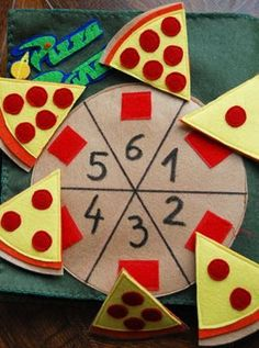 Pizza puzzle Kids Crafts, Felt Crafts, Preschool Activities, Garden Crafts For Kids, Abc Crafts, Clay Crafts, Toddler Learning, Preschool Learning, Diy Learning Toys