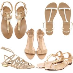 nude sandals by helane on Polyvore featuring Zara, ASOS, Loeffler Randall, Boohoo and Blink