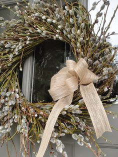 Pussywillow Wreath  Spring and Summer Wreath  Summer Door Decorations  Easter Wreath