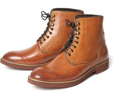 Women's Nash (Tan) Lace Up Boot   H Shoes