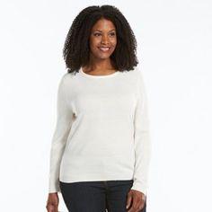 Sag Harbor Crewneck Sweater - Women's Plus Size