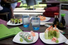 Rock Sushi Thai Sushi, Table Decorations, Rock, Ethnic Recipes, Stone, Locks, Rock Music, The Rock, Batu