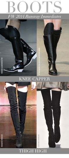 Trend Council:  Boots for FW 2014 Runway Immediates in Knee Capper & Thigh High