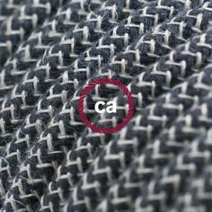 RD74 Fabric Cotton cables! Anthracite and natural linen fabric. Try it now.  Be creative.  http://www.creative-cables.gr/8-faber-cables#/_fabric-_cotton
