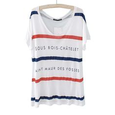 39,90€ T-Shirt rot weiss blau geringelt mit den Namen von Metrostationen Paris