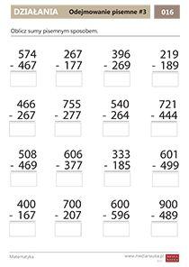 Matematyka - klasa - 3 - Matematyczna Wyspa - Medianauka.pl Hindi Worksheets, Kids Education, Math, Early Education, Math Resources, Mathematics