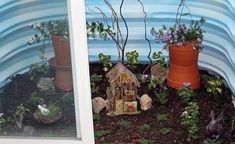 Basement Window Well Fairy Garden