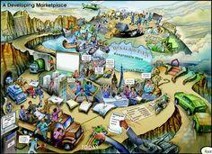 Learning Map Learning Maps, Illustration, Illustrations