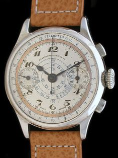 Vintage Chronograph Watches Abercrombie & Fitch Angelus 215 Watch Repair Men Stuff, Vintage Watches, Abercrombie Fitch, Chronograph, Watches For Men, Lifestyle, My Style, Classic, Accessories