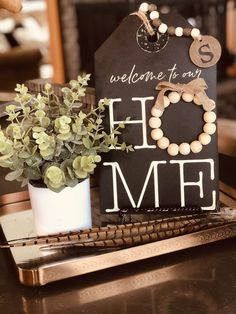 This Pin was discovered by Western Grace Home Decor and Design- Mandey Stafford. Discover (and save!) your own Pins on Pinterest. Dollar Tree Decor, Dollar Tree Crafts, Handmade Home, Farmhouse Christmas Decor, Farmhouse Decor, Diy Crafts To Sell, Home Crafts, Wood Tags, Beaded Garland