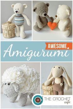 Crochet amigurumi pattern roundup on Crochet Cafe