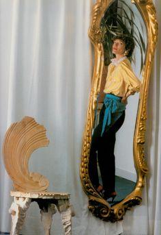 LOULOU de la FALAISE photo (detail) by Oberti Gili 1986. From Vogue Women Georgina Howell (2000) (follow Minkshmink on pinterest)