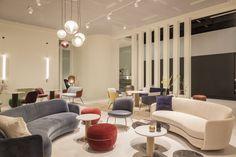 New From Wittmann in 2019 Sebastian Herkner, Lounge Sofa, Upholstered Furniture, Polished Chrome, Seat Cushions, Upholstery, Curves, Relax, Interior